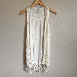 Lace Tank Shall - Off White